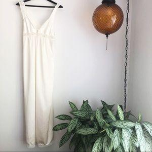 Vintage Juli embroidered lace trim maxi slip gown